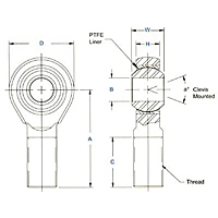 MM-T & MB-T, AM-T & AB-T Large Bore Dimensional Drawing